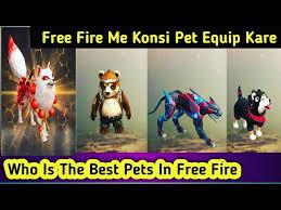 5 best pets in Free Fire1