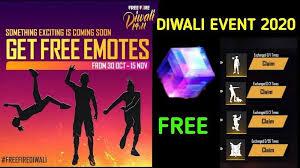 Free Fire Diwali event 2020