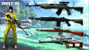 Sniper Riffles in Free Fire
