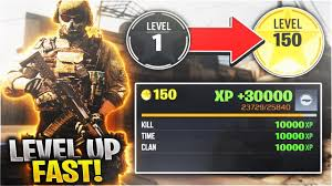 level up quickly in COD