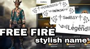 stylish name in free fire hello