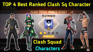 Free Fire characters for ranked