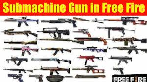 Submachine guns in Free Fire