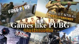 games like ff and pubg