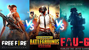 free fire vs. Pubg vs. Faugfree fire vs. Pubg vs. Faug