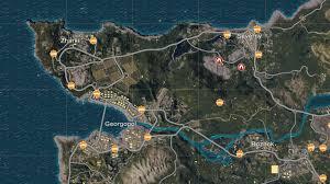 Landing Zones in PUBG
