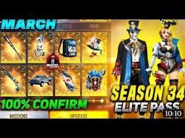 Free Fire Season 34 Elite Pass
